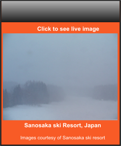 Sanosaka ski Resort, Japan  Images courtesy of Sanosaka ski resort    Click to see live image